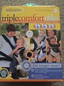 Triple comfort rider baby carrier. New