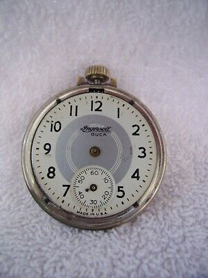 Vintage INGERSOLL BUCK Pocket Watch For Parts Repair or Restoration ONLY!!