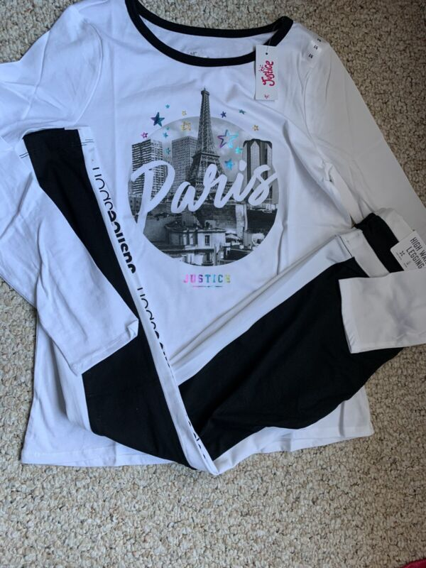 Justice Girl's Outfit size 14 Paris Top & leggings🌸