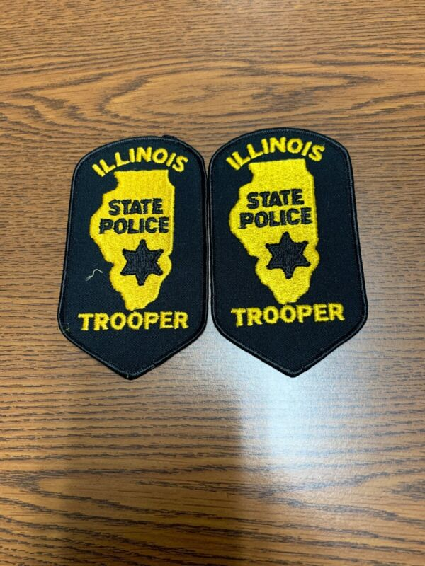 US State Trooper Illinois Police Patch Lot Of 2