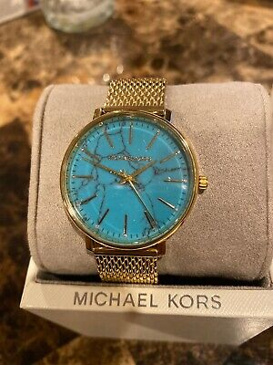 MICHAEL KORS Women's Pyper Gold-Tone Stainless Steel Watch MK4393 NWT NEW!