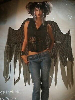 Adult Size Fairy Wings (Dark Fairy Wings Costume Accessory  Adult-One Size Fits Most -Halloween/Dress)