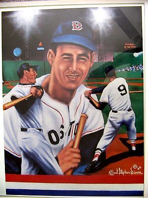 SPORT IMPRESSIONS Ted Williams Lithograph by Robert Stephen Simon
