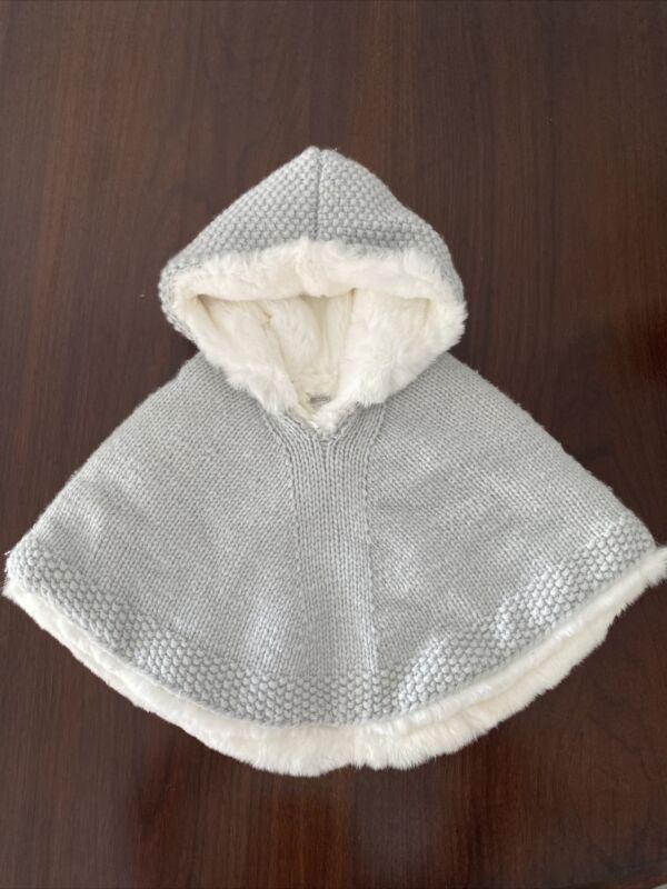 Bergdorf Goodman fur cashmere Baby Girl Cape Size 9-12 M