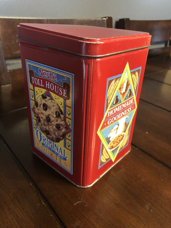 RARE Vintage Nestle Toll House Cookies Collectible Tin FREE SHIPPING Empty