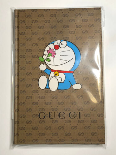 Gucci Doraemon Collaboration notebook A5 Cancam Brand New