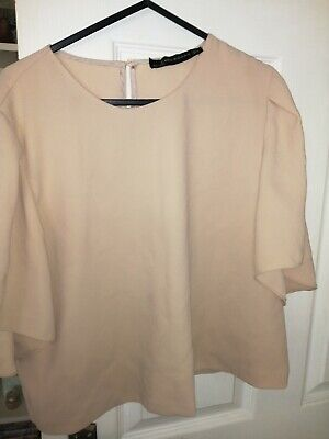 Women's Zara Large Beige Blouse