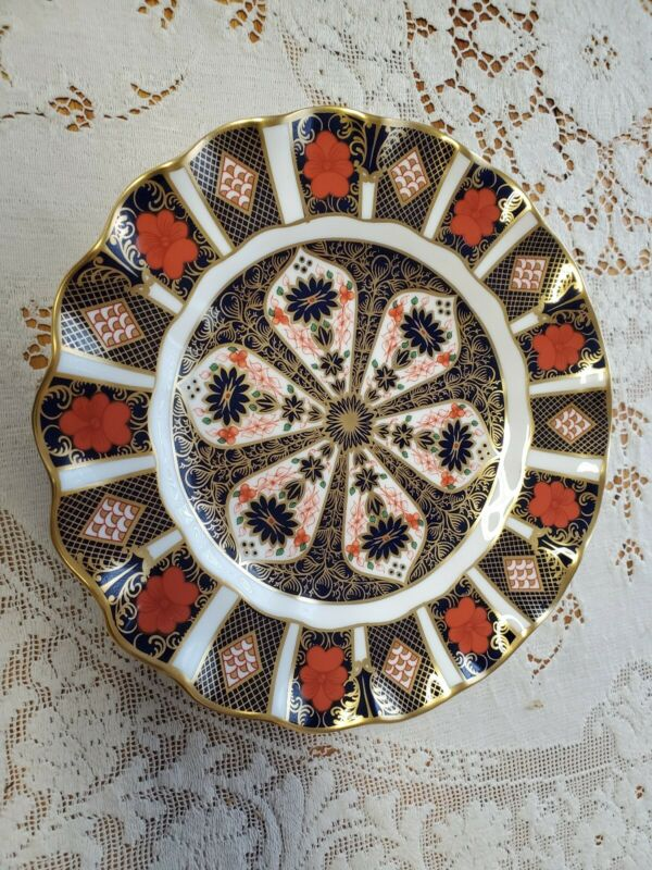 Royal Crown Derby Old Imari Sheffield Dessert Plate 1128