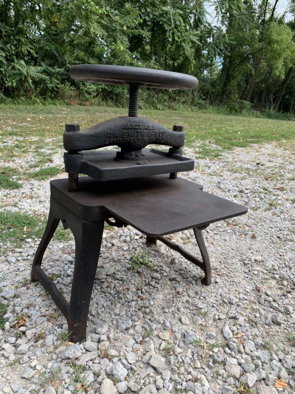 Antique Cast Iron R H Smith Book Press No. 3