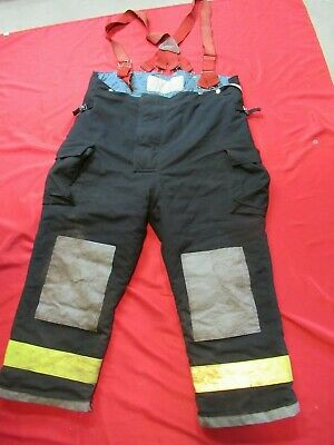 Mfg.2002 Black Gear Bunker Pants 56 X 30 Turnout Fdny Style Fire Quaker