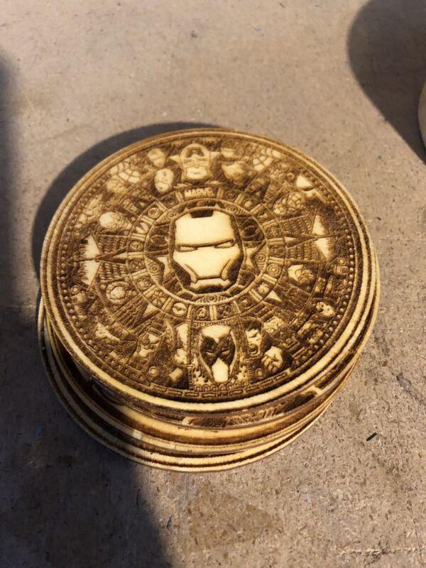 Marvel Avengers Custom Wood Drink Coasters Set Of 4