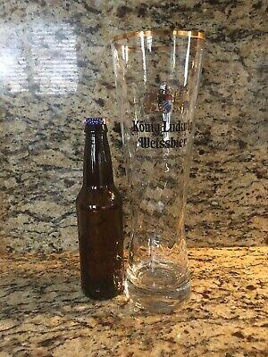 Konig Ludwig Weissbier Beer  1 Liter Glass Huge Very RARE