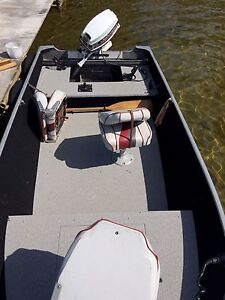 14' lund boat motor and trailer for sale!
