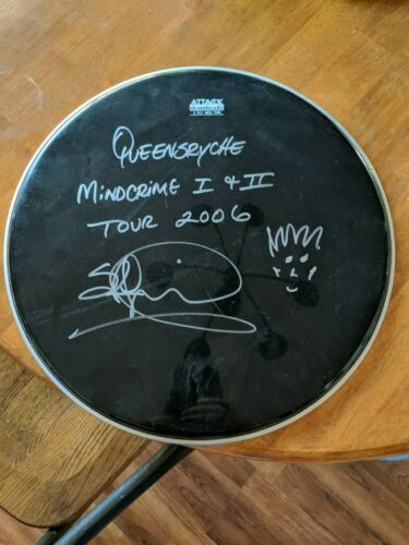 Queensryche signed drumhead