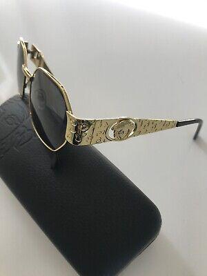Vintage Gianni Versace Medusa Gold / Black Sunglasses