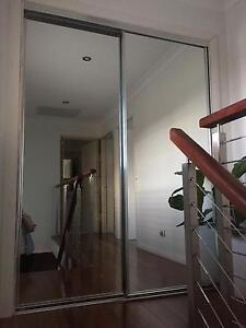 2 x mirrored wardrobe sliding doors & frame in immaculate cond. Narrabeen Manly Area Preview
