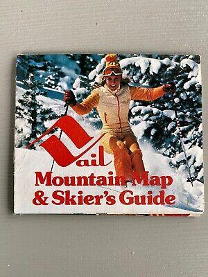 Vintage Vail Ski Resort Mountain Map & Skier's Guide 1980s Colorado Brochure