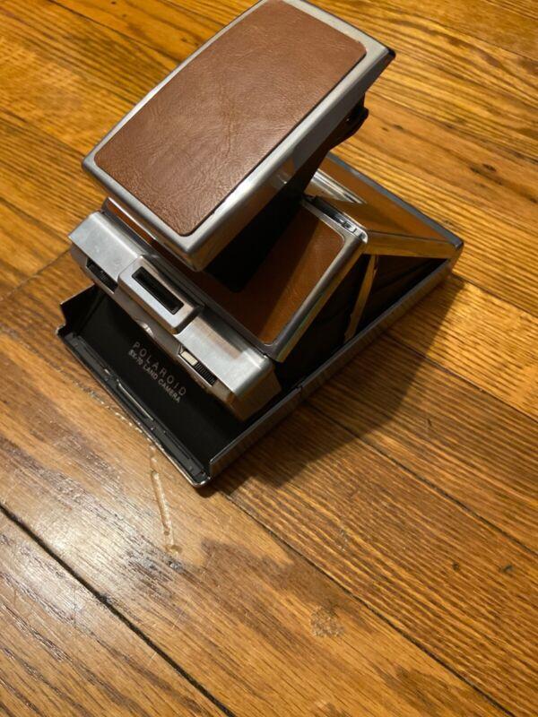 Vintage Polaroid SX-70 Land Camera with Instructions