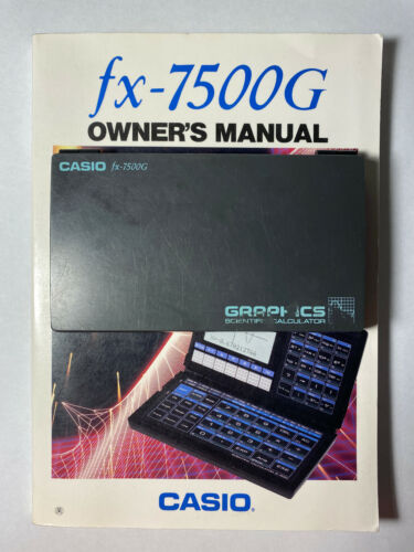 Casio fx-7500G Graphic Scientific Graphing Calculator & Owners Manual