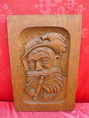Pretty, Old Wood Picture __ Öhi __ Wood Carved Signed__52 x 35cm ___