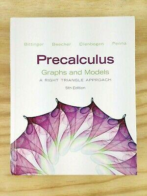 Precalculus Graphs And Model 5th Edition Hardcover Book Pearson My Math Lab (Graph Math)
