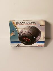 CRAIG Dual Alarm Clock Radio With Bluetooth  Wireless Technology