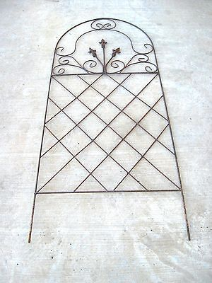 fleur de lis gate trellis lattice wrought iron garden decor art