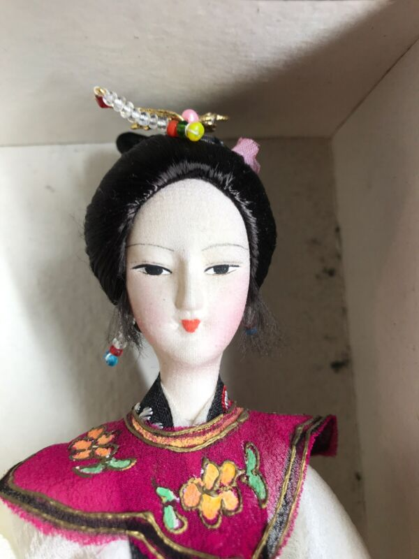 """VINTAGE CLOTH DOLL MADE IN THE PEOPLES REPUBLIC OF CHINA-10"""" Tall"""