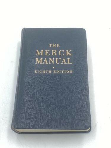 The Merck Manual of Diagnosis and Therapy Eighth Edition 1950 Hardcover Indexed
