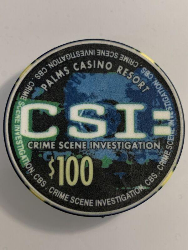 PALMS CSI $100 Casino Chip Las Vegas Nevada 3.99 Shipping ONLY 100 MADE