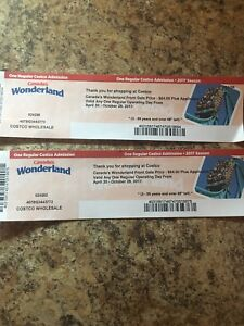 2 tickets to canadas wonderland