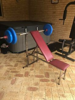 All in one Gym set, Bench press and Dumbbells for sale