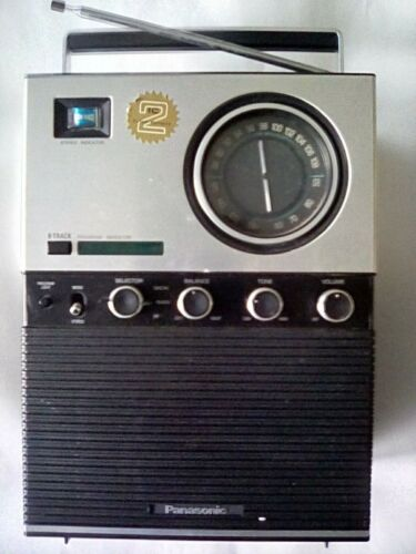 Vintage Panasonic Portable 8- Track Tape Player AM FM Radio Works Great RF-71201