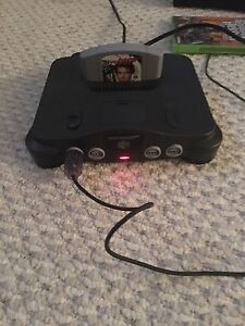 Nintendo 64 With Games and Controllers