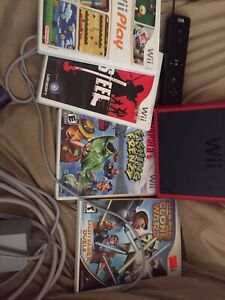 Wii mini bundle comes with everything you need+6games