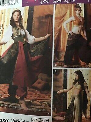 Belly Dance costume PATTERN Simplicity 5359 Sz 6-12 Harem Girl Esmeralda Gypsy