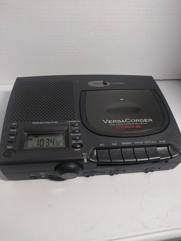 Sangean Versa Corder Dual Speed Cassette Recorder C.Crane Tested & Working