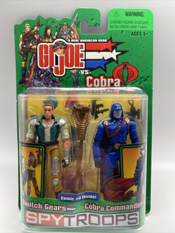 GI Joe Spy Troops Action Figures Cobra Commander Switch Gears Hasbro New Sealed