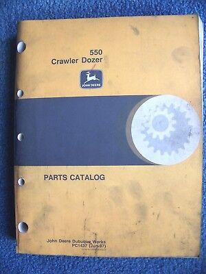 John Deere 550 Crawler Dozer Parts Catalog - Pc 1437 Jun-97
