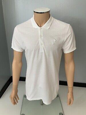 Versace Mens Polo T Shirt, Size Medium, M, White, Vgc