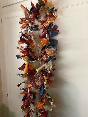 Primitive Stitchery Autumn Harvest Halloween Rag Garland