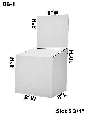 Large Cardboard Suggestion Donation Ballot Box 8 X 8 X 8