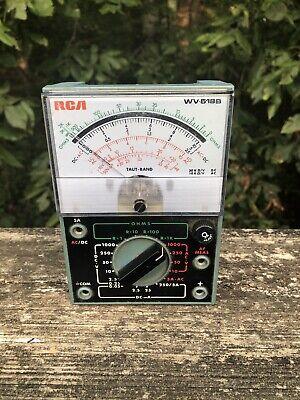 Rca Voltohmyst Test Meter Model Wv-518b Volt Ohm