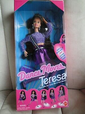 New 1994 Dance Moves Barbie, Teresa Doll NRFB, Bend and Move body, Never Opened