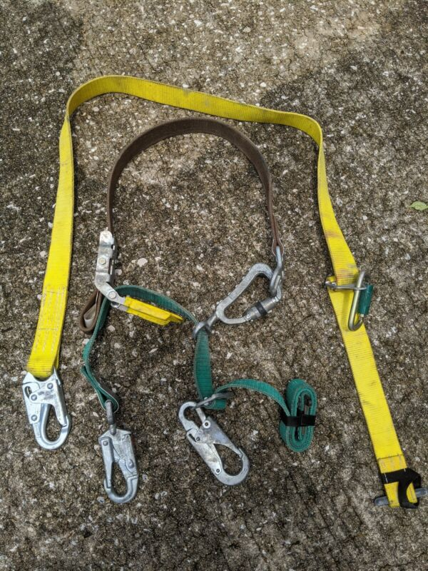 Buckingham Bucksqueeze 483D Lineman Utility Tree Pole Climbing Harness