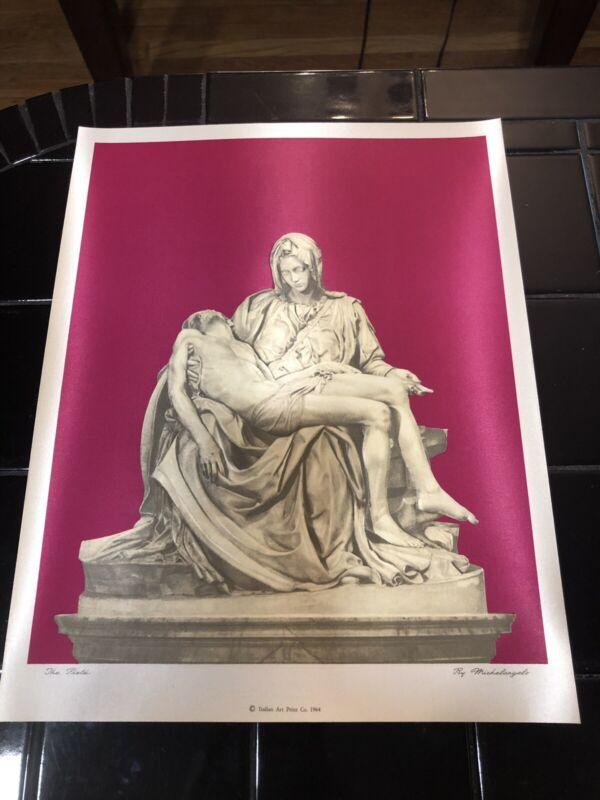 "1964 Michelangelo ""The Pieta"" Vatican photo satin laminated. New and Unused!"