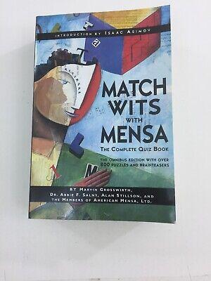 Match Wits with Mensa - Abbie Salny, Alan Stilton, Marvin Grosswirth (1999, PB)