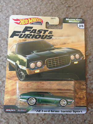 "Hot Wheels FAST & FURIOUS ""Motor City Muscle"" '72 FORD GRAND TORINO SPORT"