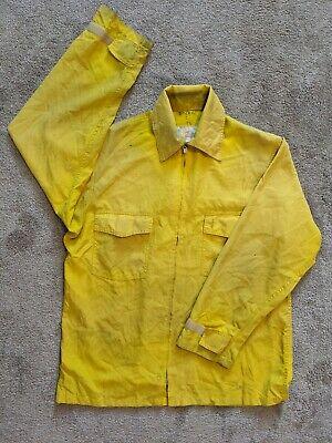 Nomex Wildland Firefighting Fire Shirt Yellow Full Zip Large Bia Blm Nps Usfs 3