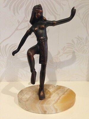 Bronze Egyptian Statue of KING TUT TUTANKHAMUN on Marble Stand